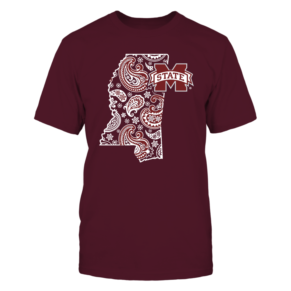 Mississippi State Bulldogs - State map pattern Front picture
