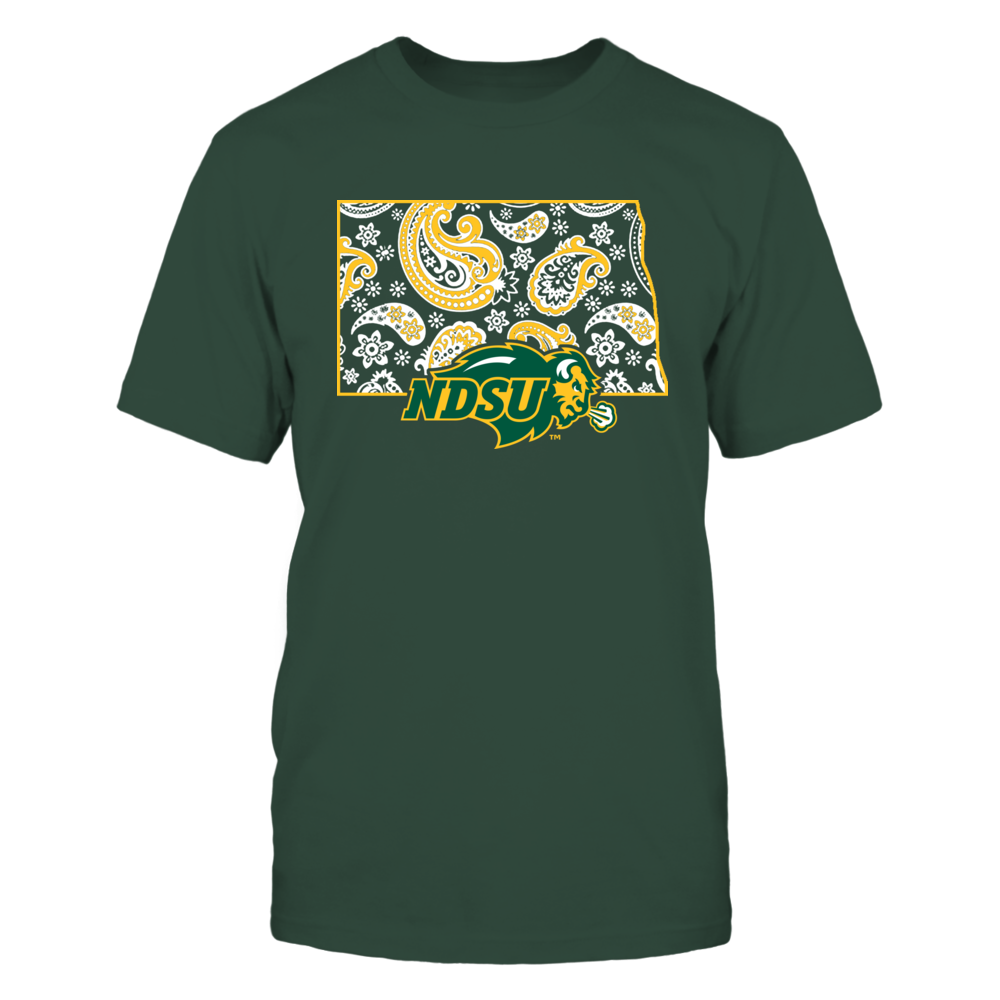 North Dakota State Bison - State map pattern Front picture