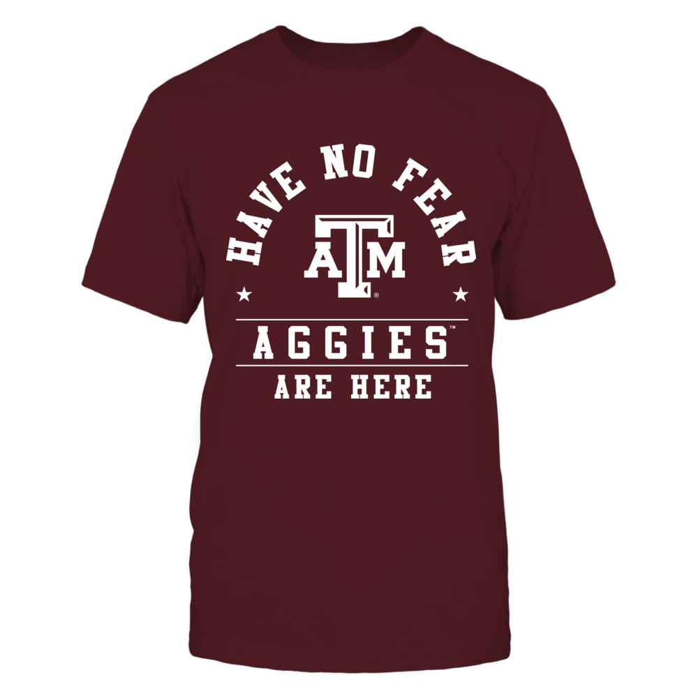 Aggies are here Front picture