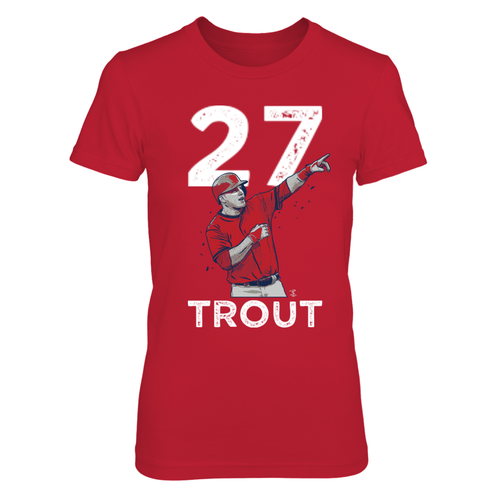 Mike Trout #27 Front picture