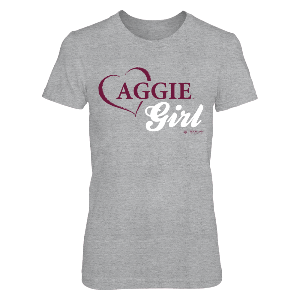 Aggies Girl - Texas A&M Aggies T Shirt Front picture