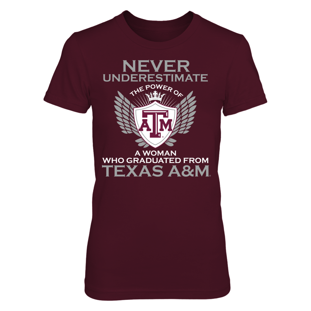 Texas A&M - Never Underestimate Front picture