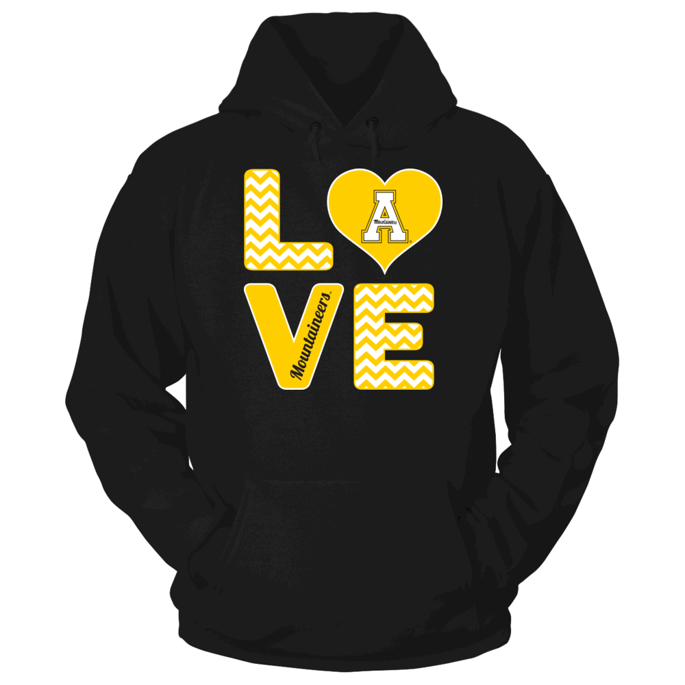 Stacked Love - Appalachian State Mountaineers Front picture