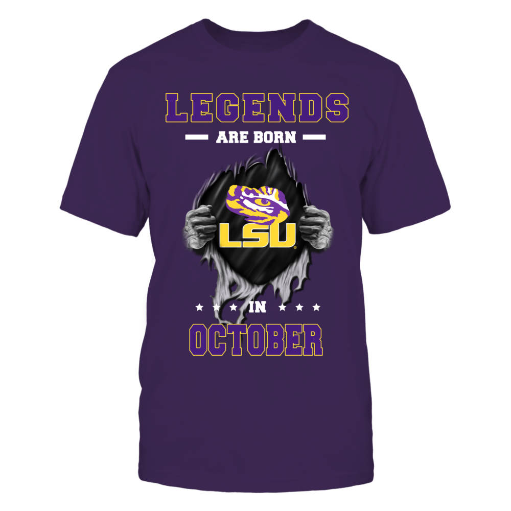 LSU Tigers - Legends are born in October Front picture