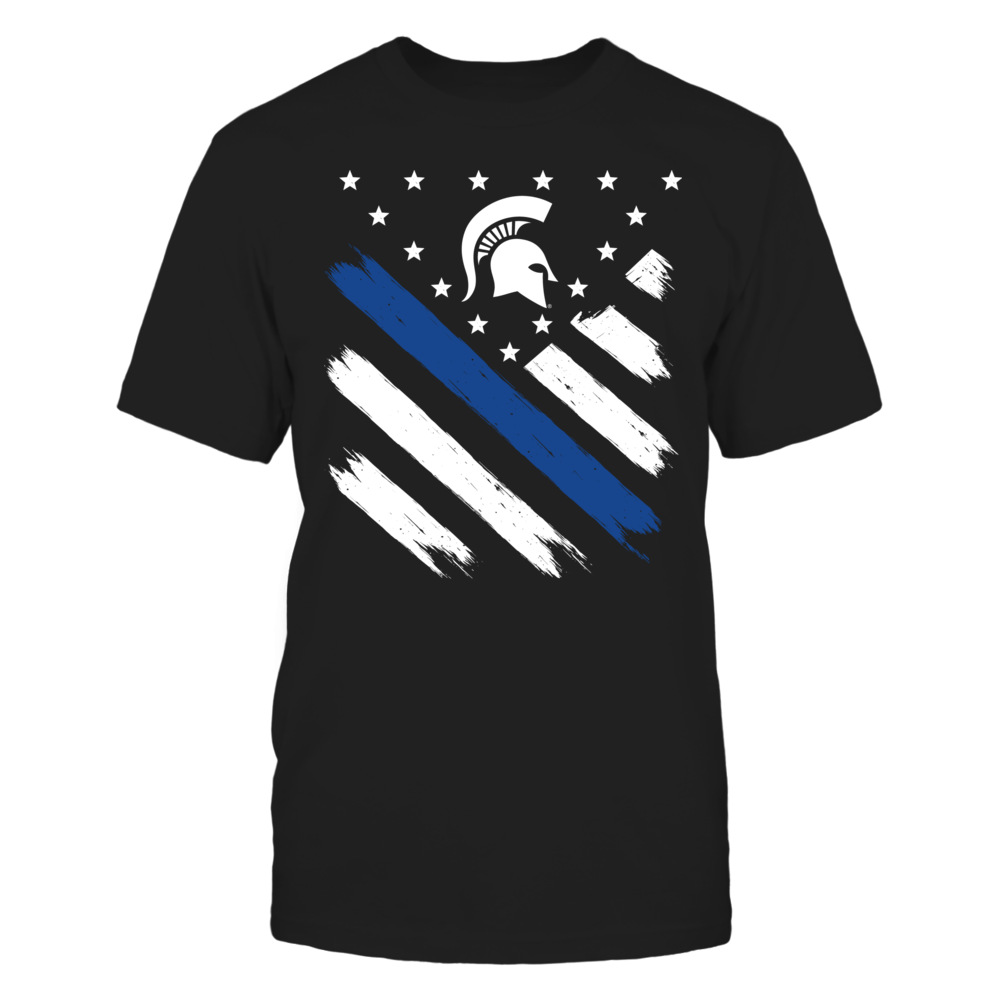 Diagonal Thin Blue Line - Michigan State Spartans Front picture