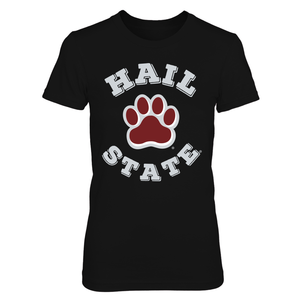 Official Mississippi State Bulldogs Fan Merchandise Hail State Paw Print Front picture