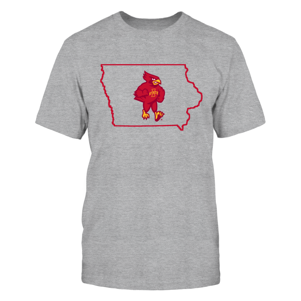 CY IN STATE OUTLINE - IOWA STATE CYCLONES Front picture