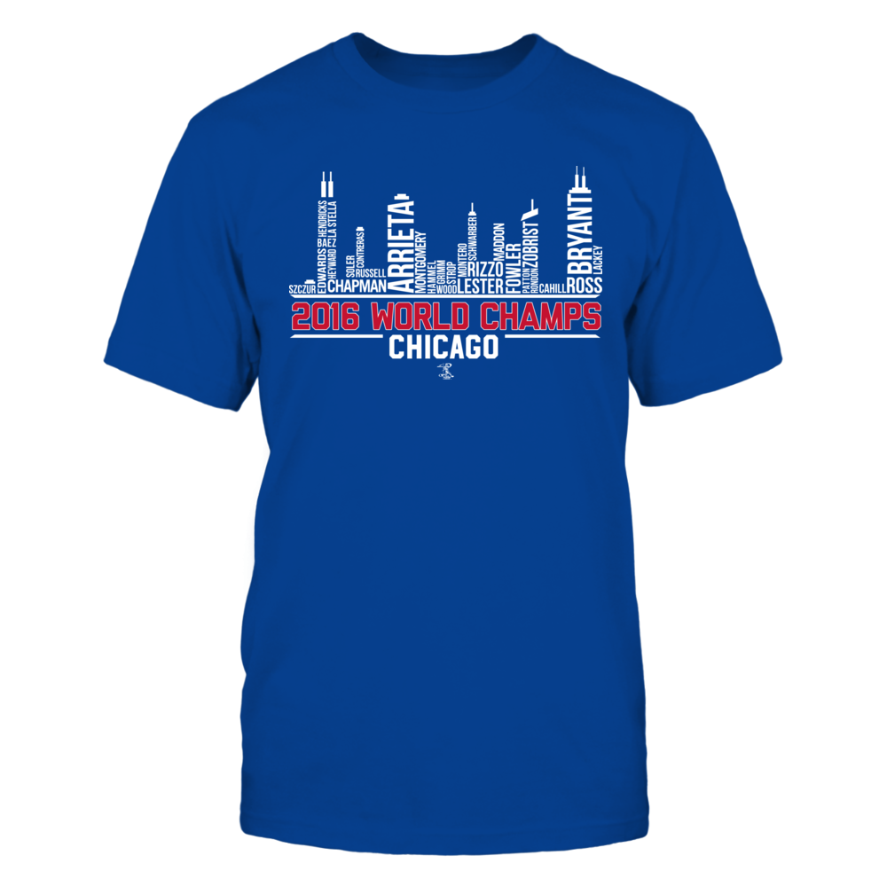 2016 World Champs Skyline Chicago  - Ben Zobrist Front picture
