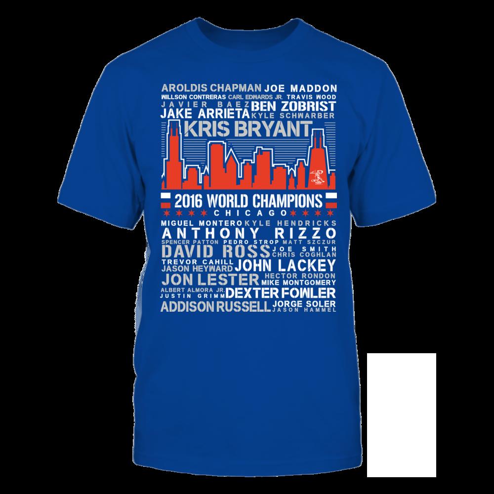 2016 World Champions Chicago Skyline - Ben Zobrist Front picture
