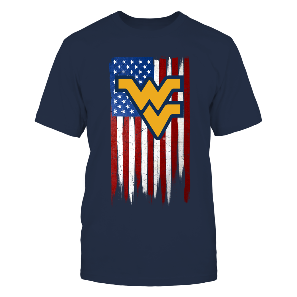 Grunge American Flag - West Virginia Mountaineers Front picture