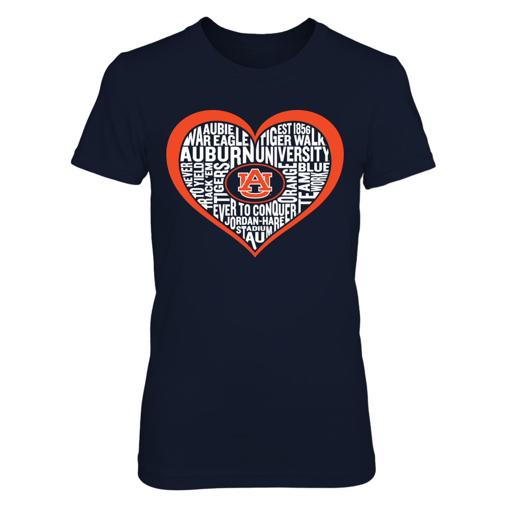Word Cloud Heart - Auburn Tigers Front picture