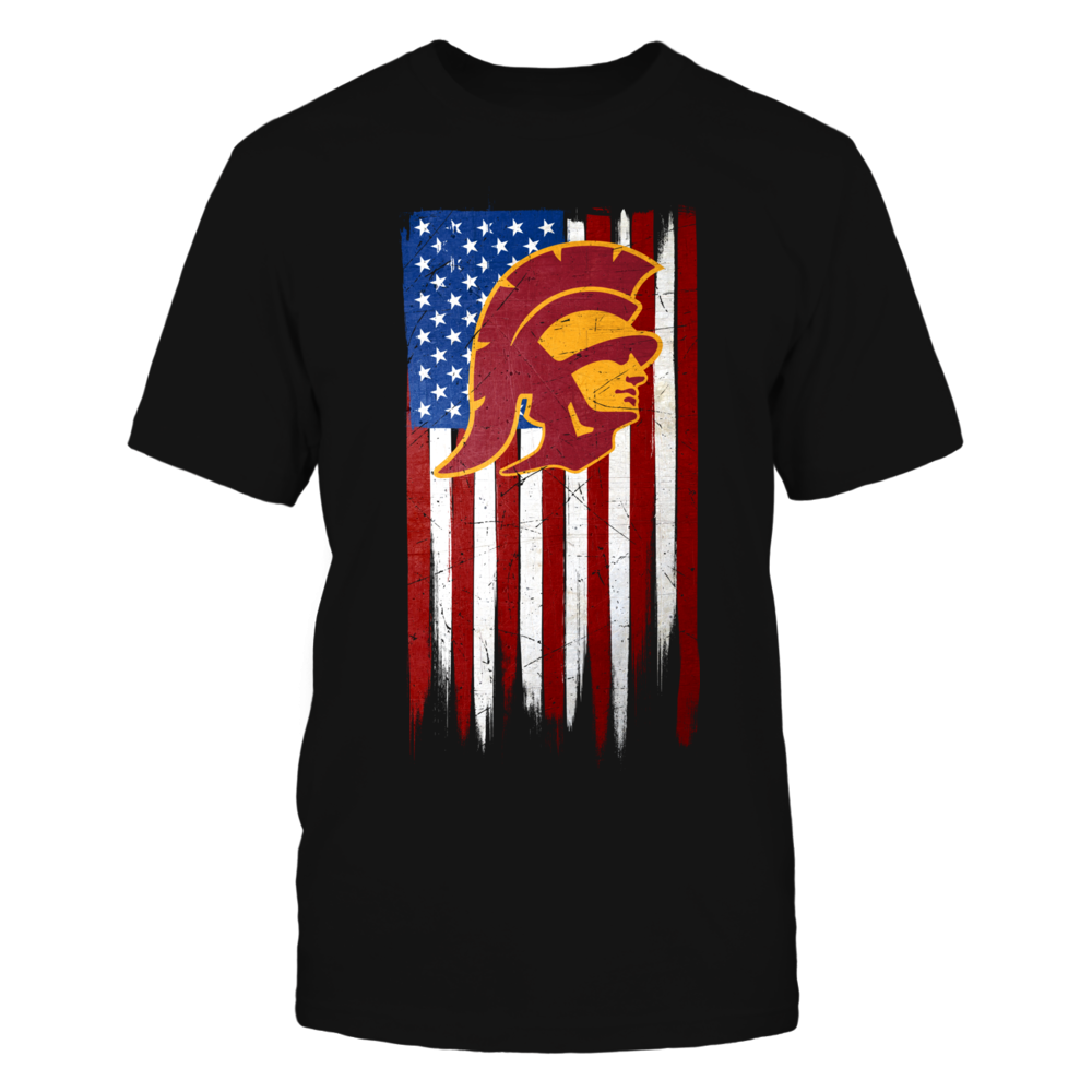 Grunge American Flag - USC Trojans Front picture