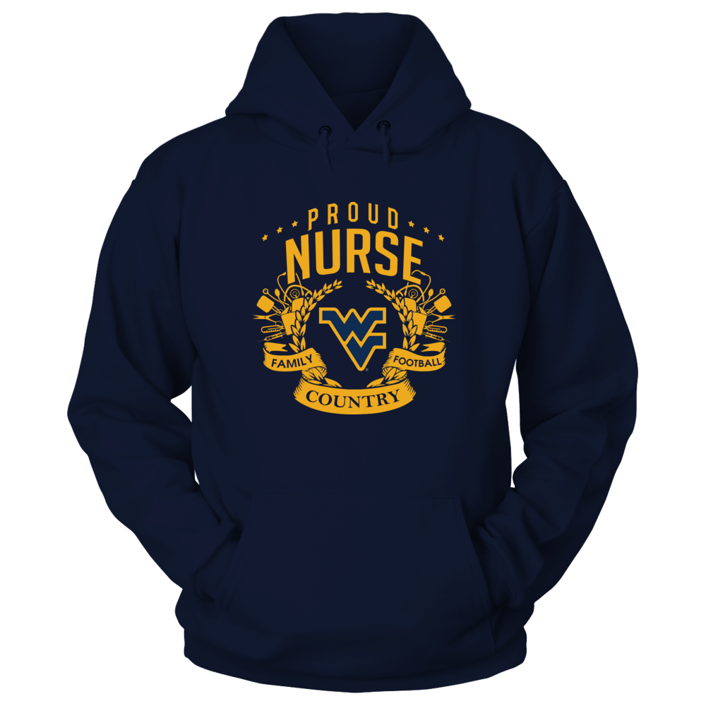 West Virginia Mountaineers - Proud Nurse Front picture