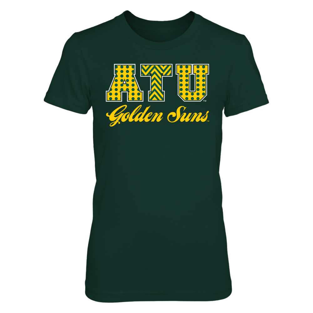 Patterned Letters - Arkansas Tech Golden Suns Front picture