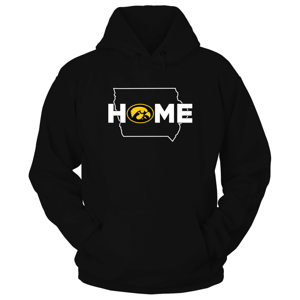 Iowa Hawkeyes - Home with state outline - IF-IC78-DS75 Front picture