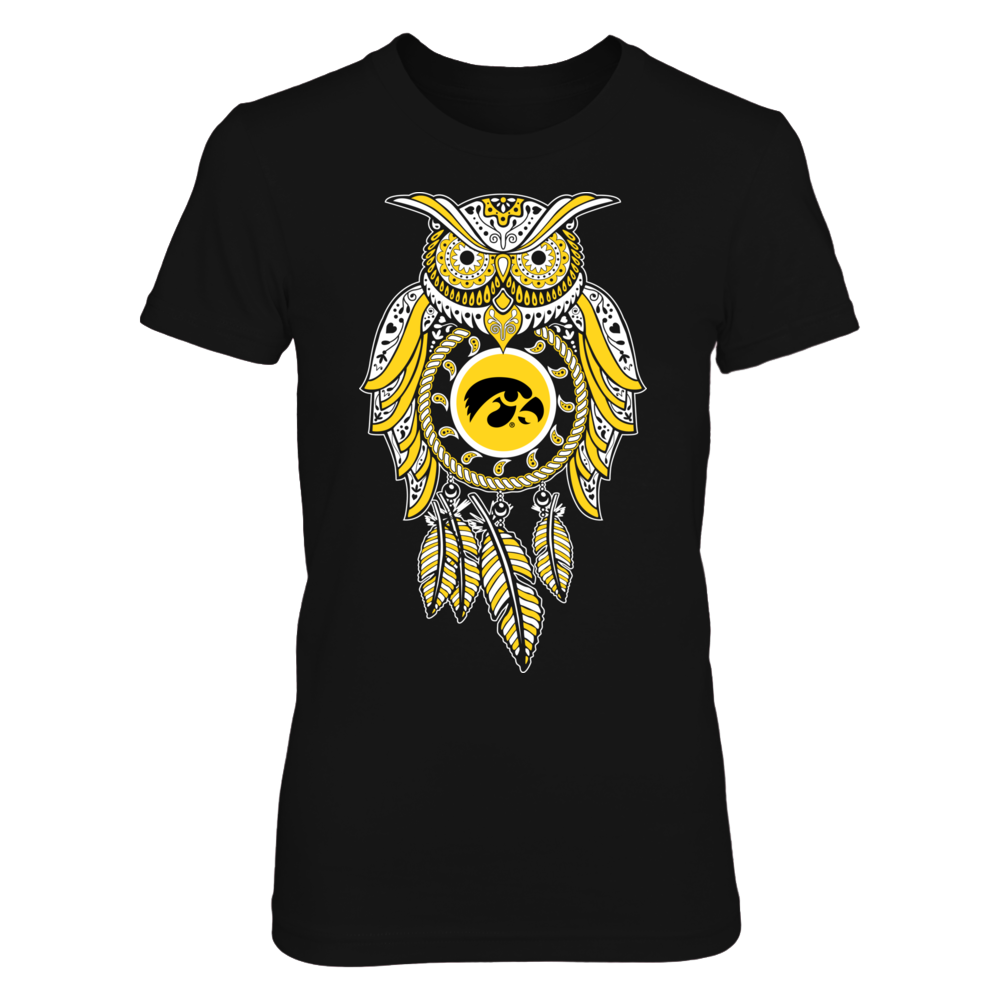 Sugar Skull Owl - Iowa Hawkeyes Front picture