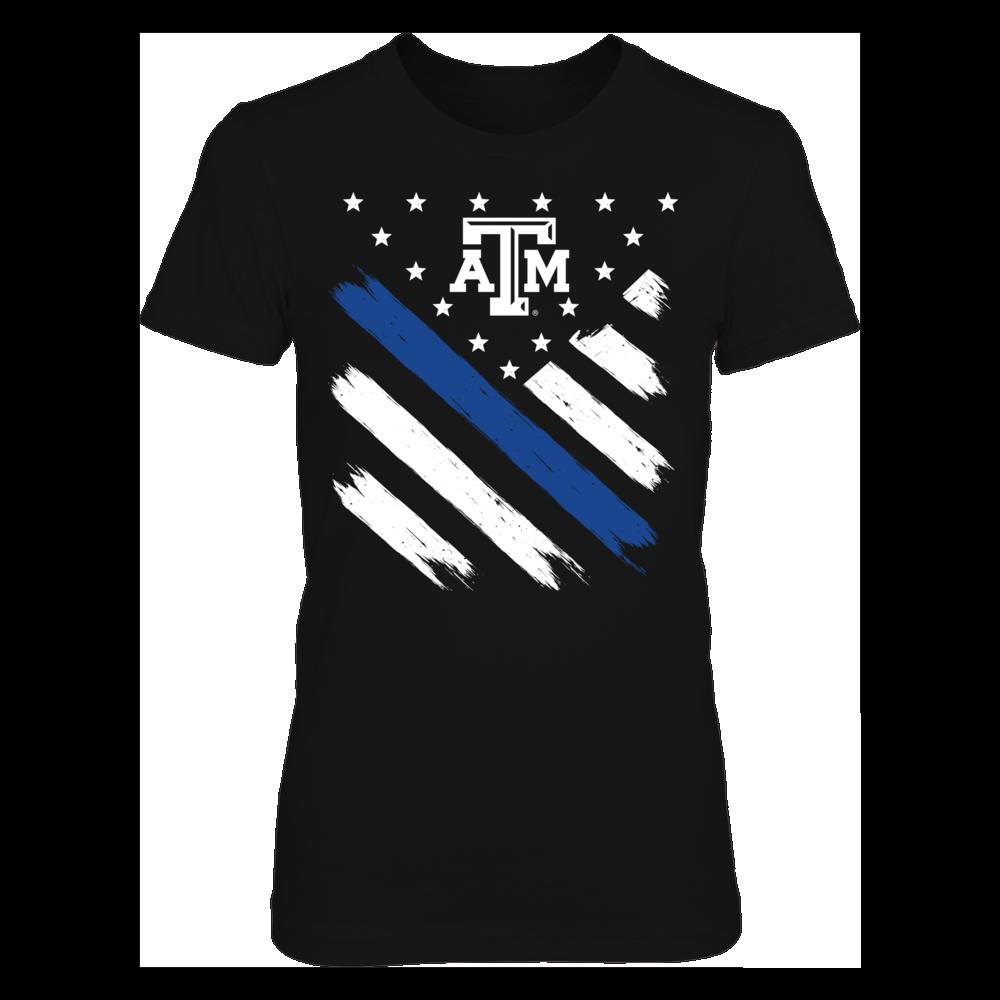 Texas A&M Aggies -Diagonal Thin Blue Line Front picture