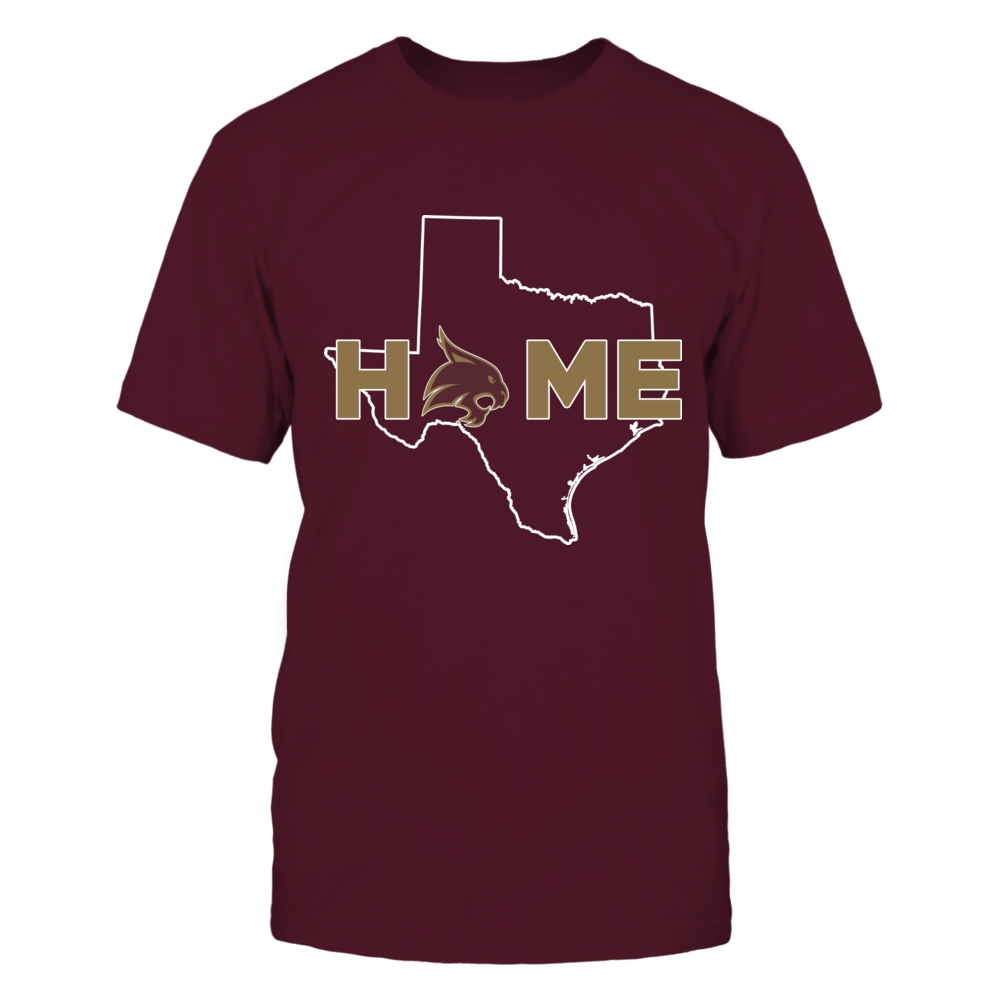 Texas State Bobcats - Home With State Outline Front picture