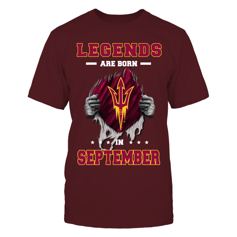 ARIZONA STATE SUN DEVILS - Legends are born in September Front picture