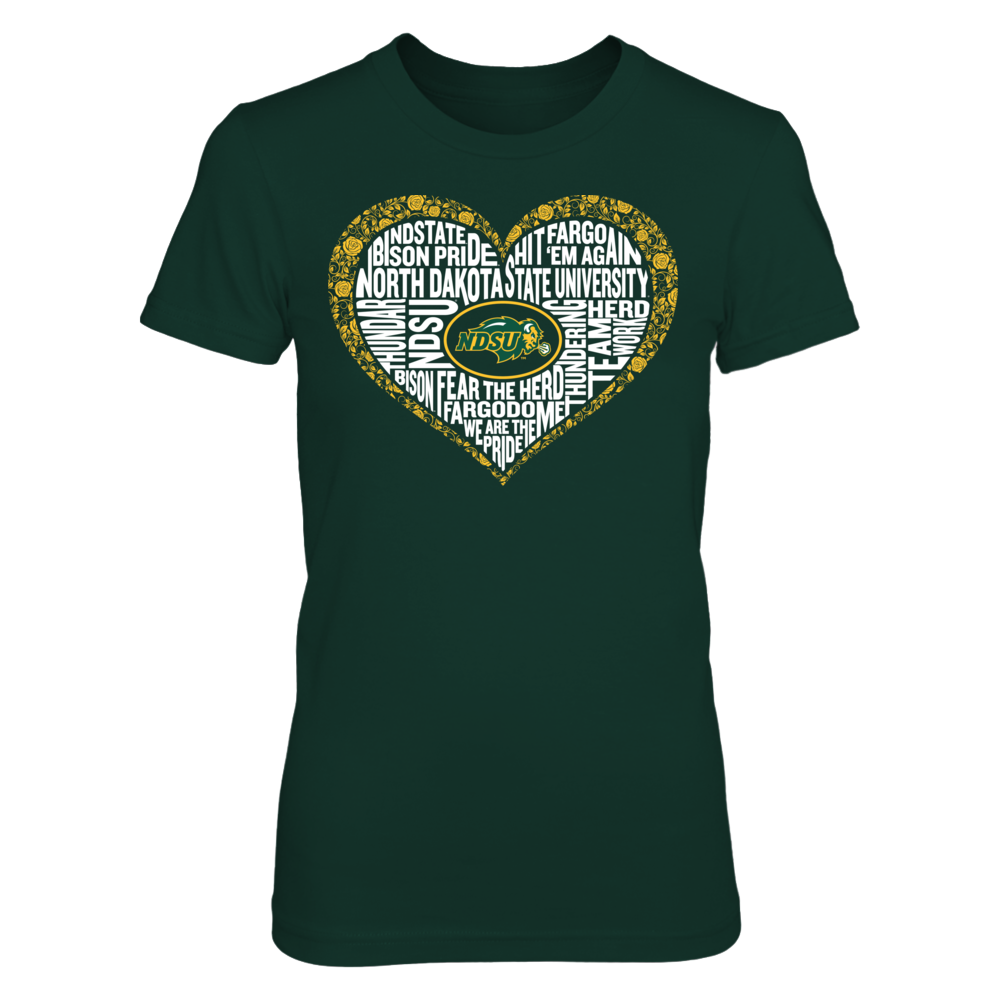 Word Cloud Lace Heart - North Dakota State Bison Front picture