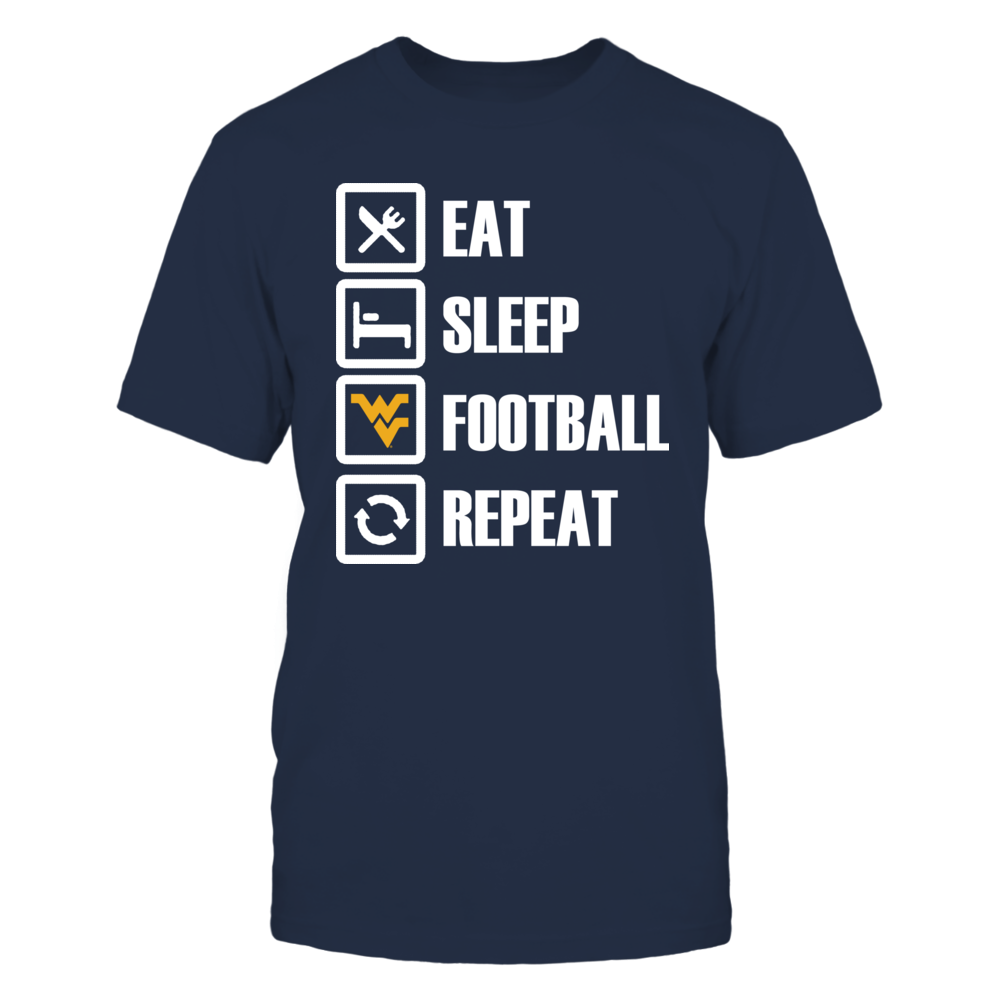 Eat Sleep WV Football Repeat Front picture