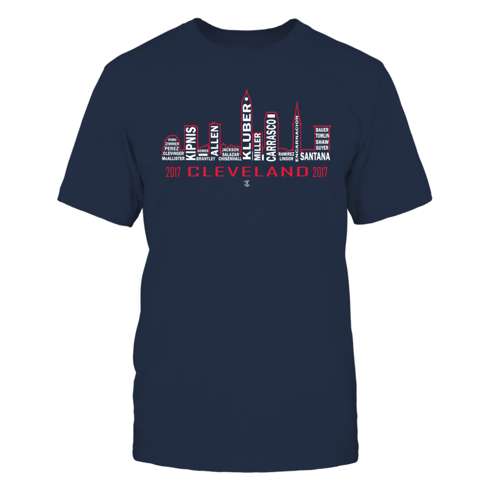 Corey Kluber - Cleveland Skyline Front picture