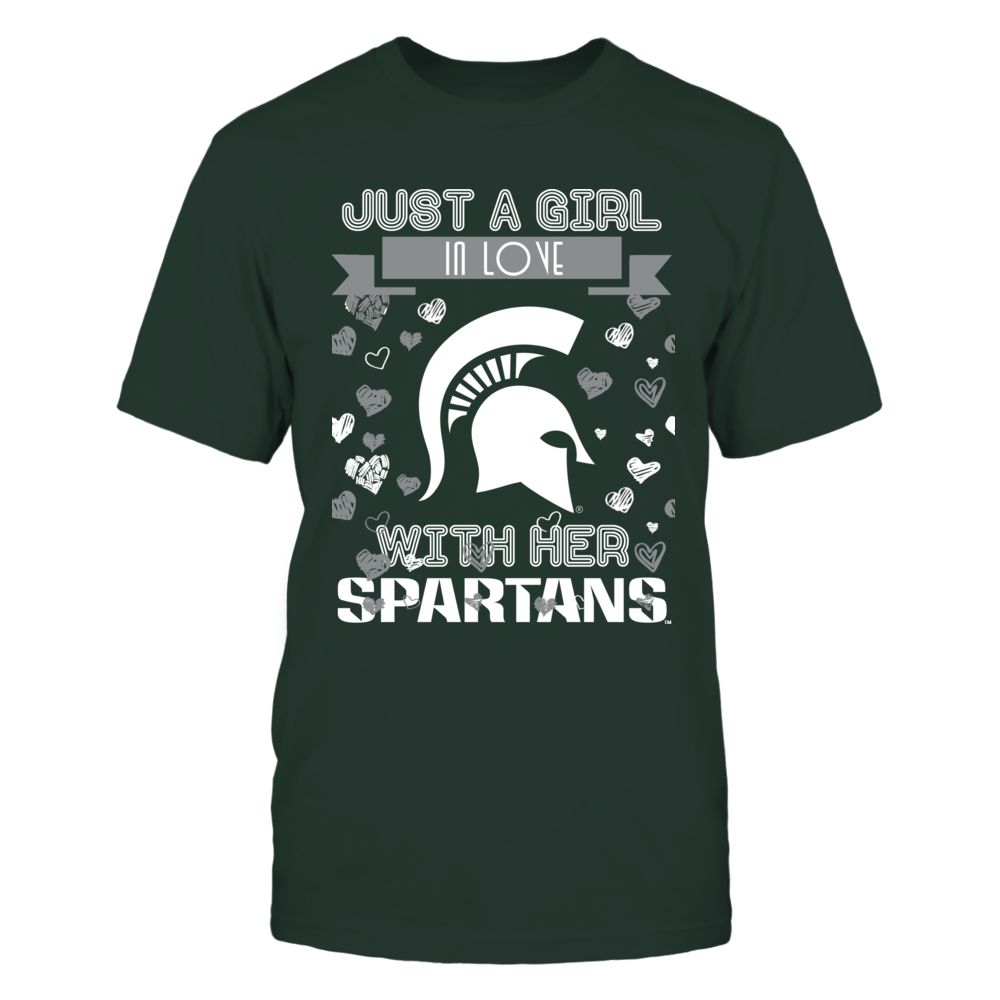 Michigan State Spartans - Just A Girl Front picture