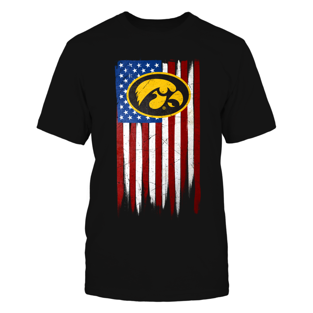 Grunge American Flag - Iowa Hawkeyes Front picture