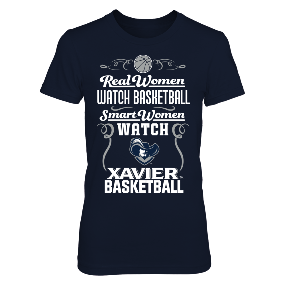 Xavier Musketeers - Real Woman Smart Women Basketball Front picture