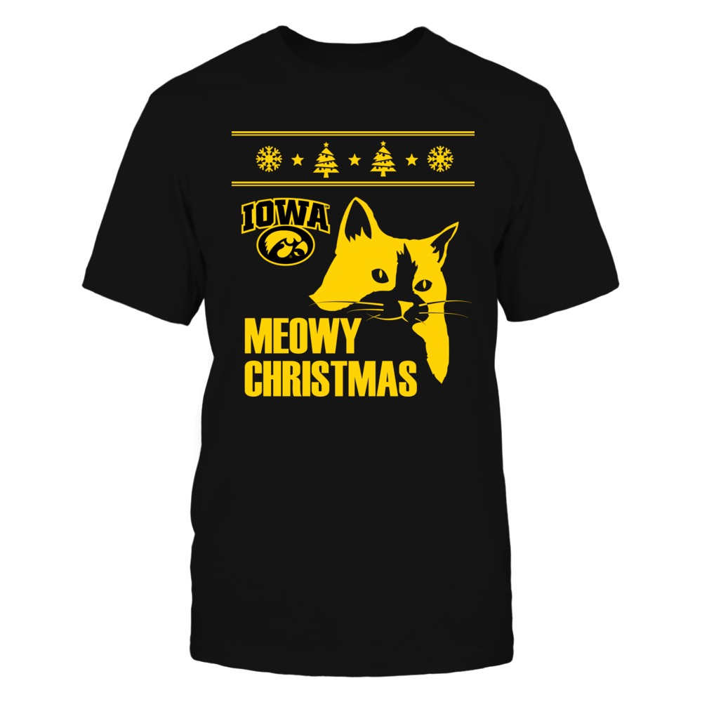 Meowy Christmas Iowa Hawkeyes Front picture