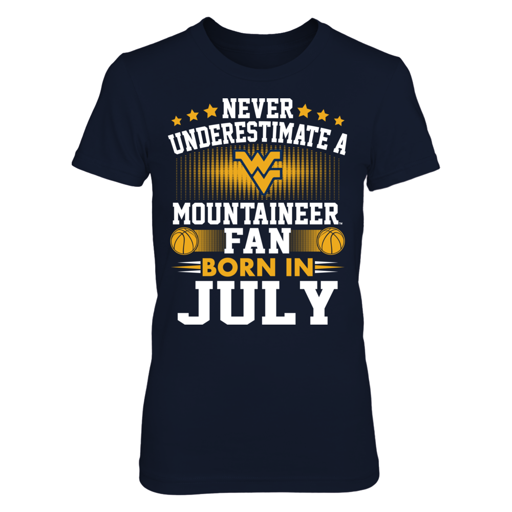 West Virginia Mountaineers - Fan Born In July Front picture