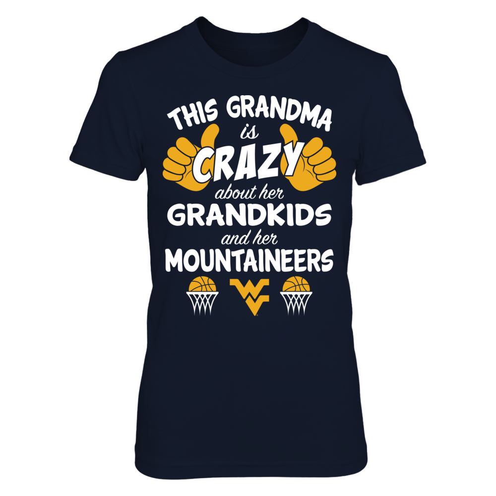 West Virginia Mountaineers - This Grandma Is Crazy Basketball Front picture