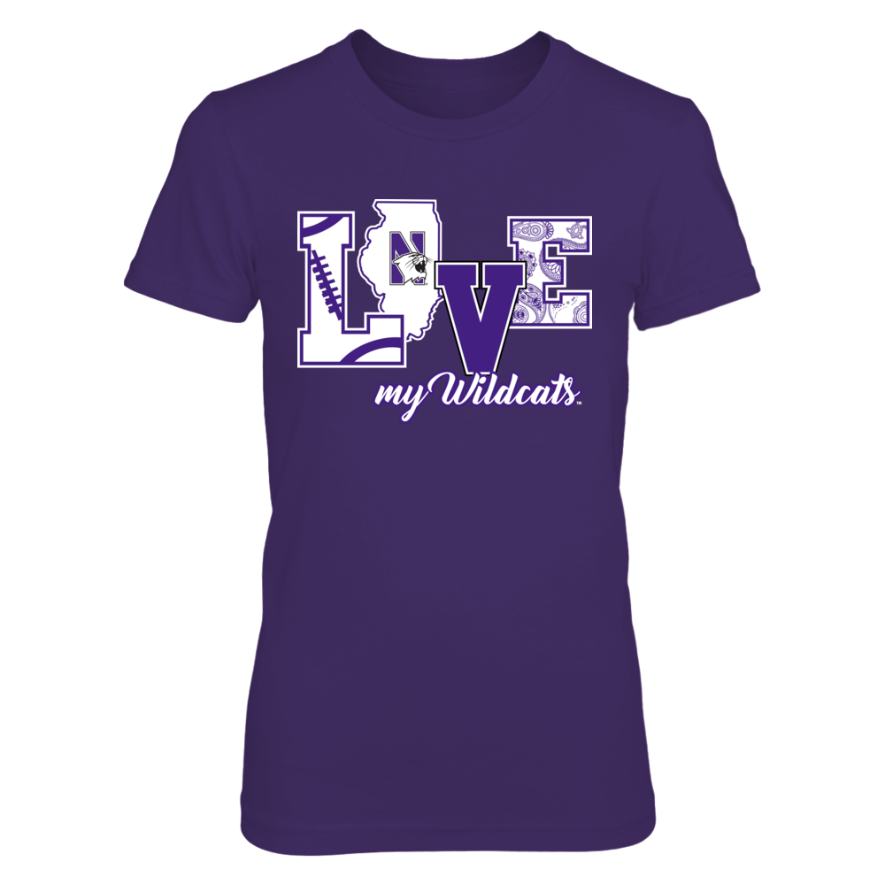 Northwestern Wildcats - Love my Wildcats Front picture