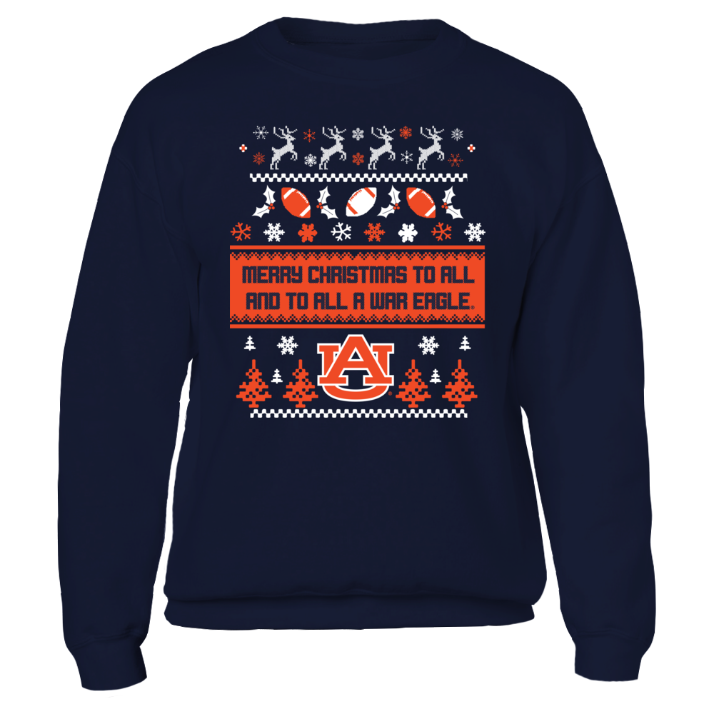UGLY CHRISTMAS SWEATER DESIGN - AUBURN TIGERS Front picture