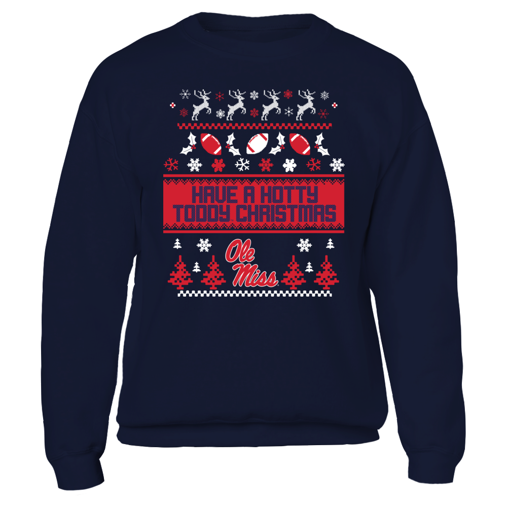UGLY CHRISTMAS SWEATER DESIGN - OLE MISS REBELS Front picture