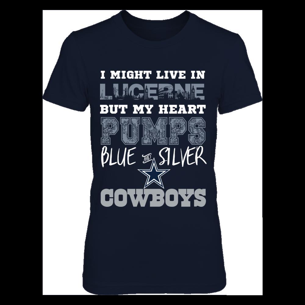 Dallas Cowboys Heart Pumps Lucerne Shirt Front picture