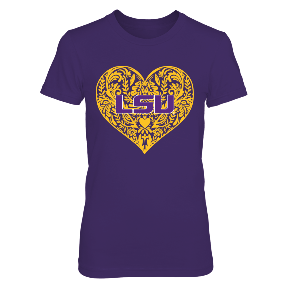 LSU Tigers - Lace Heart Front picture