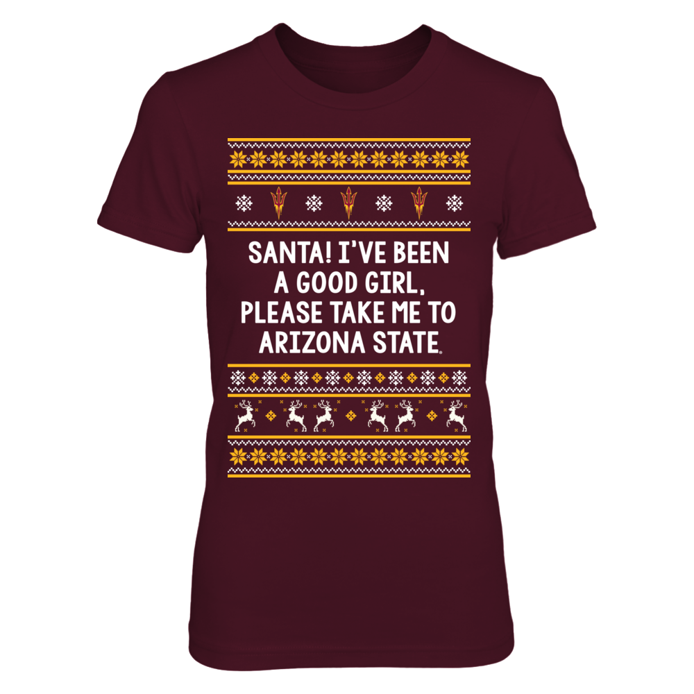 Arizona State Sun Devils - Santa Good Girl Front picture