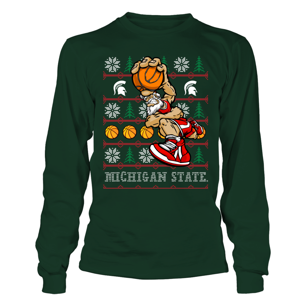 Michigan State Basketball Santa Front picture