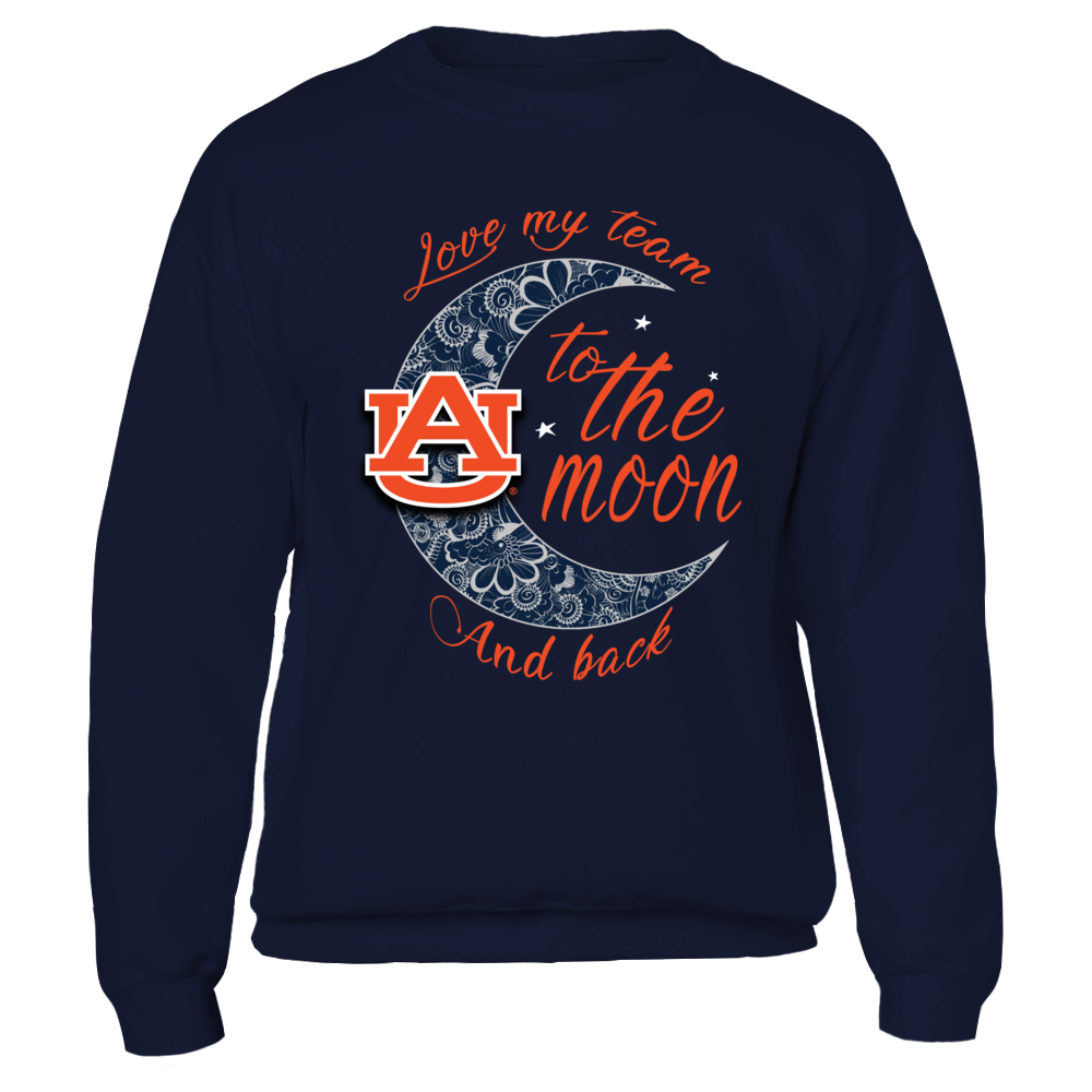 Auburn Tigers - Floral Crescent Moon Front picture