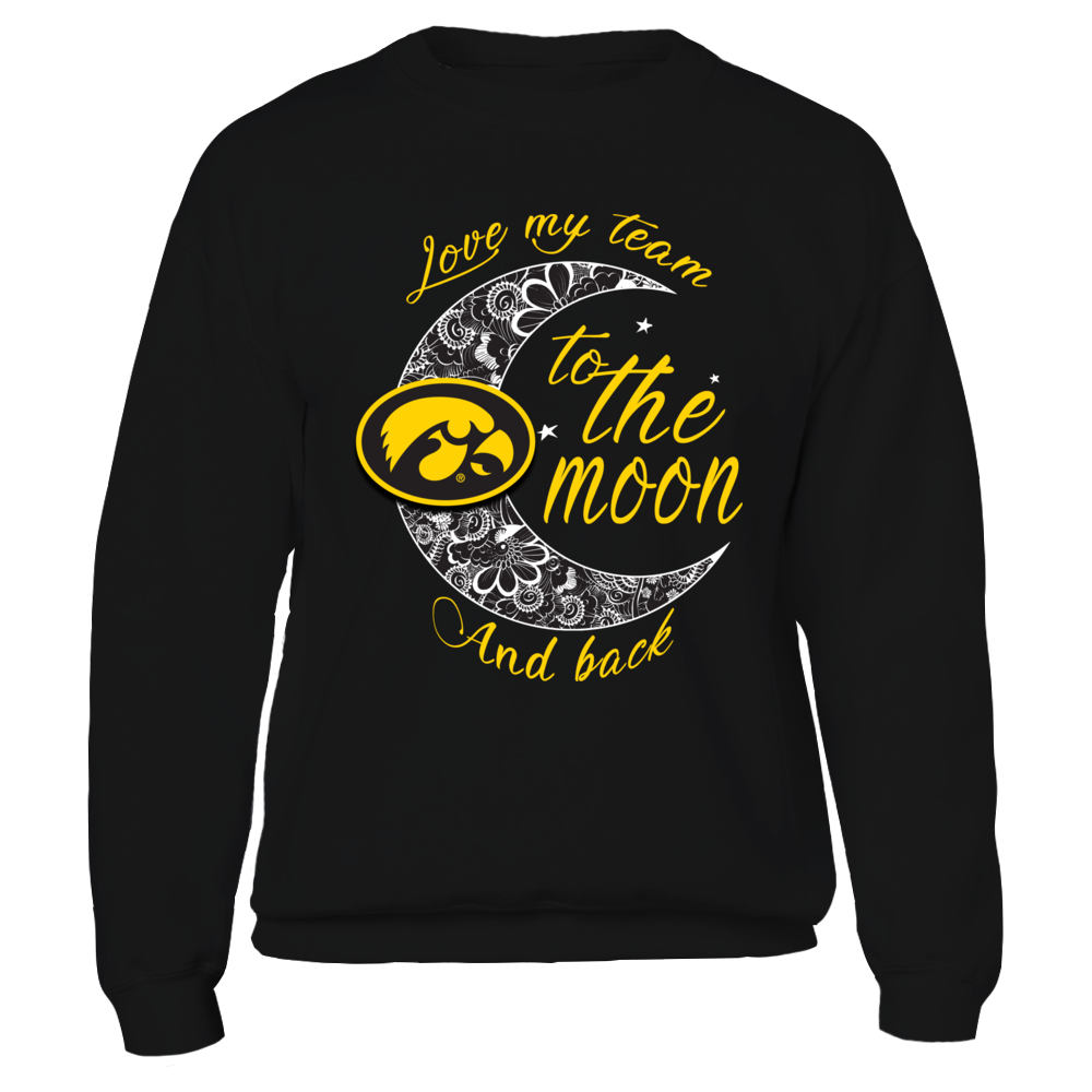 Iowa Hawkeyes - Floral Crescent Moon Front picture