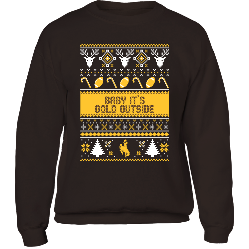 Wyoming Cowboys - Ugly Christmas Sweater Front picture