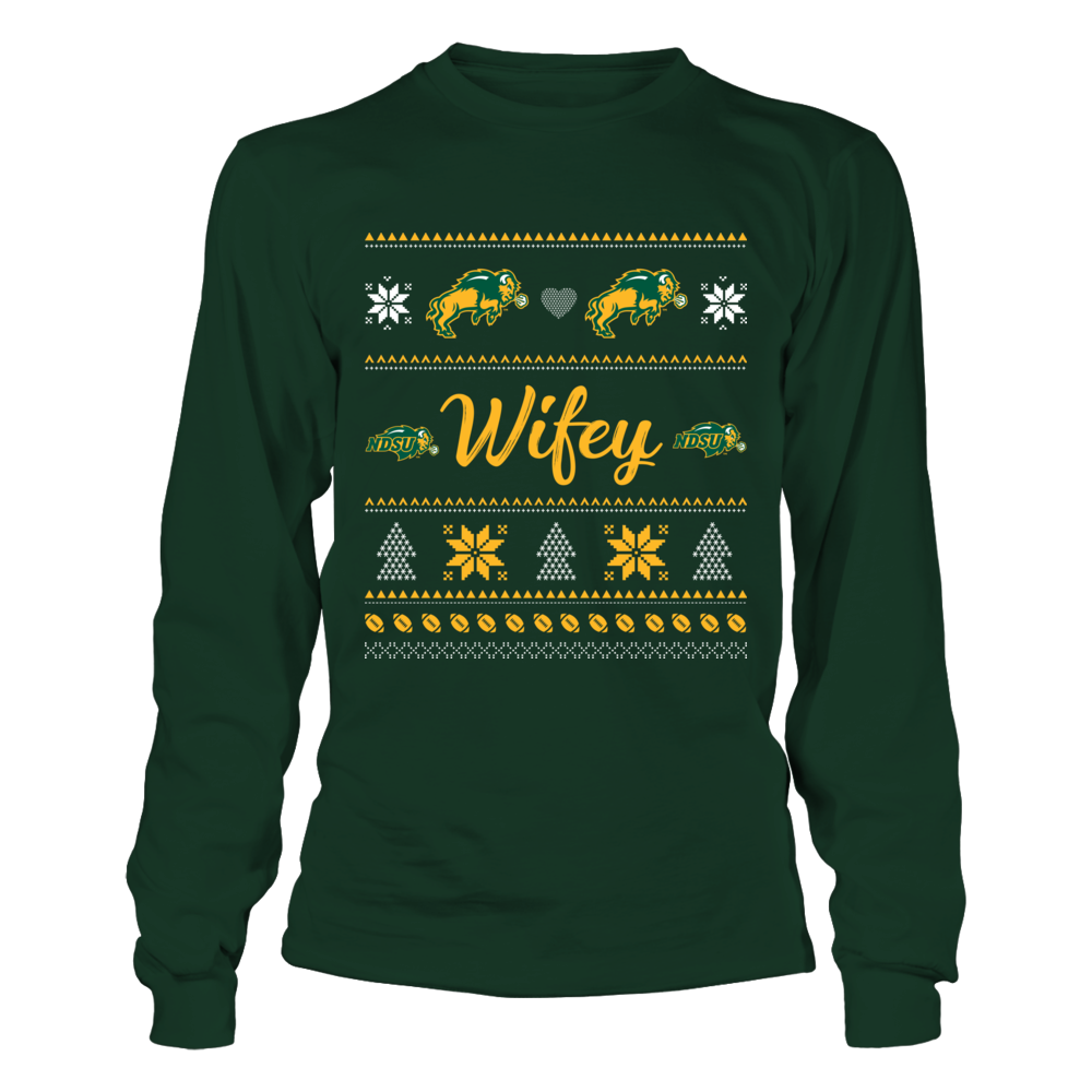 North Dakota State Bison - Wifey Ugly Sweaters Front picture
