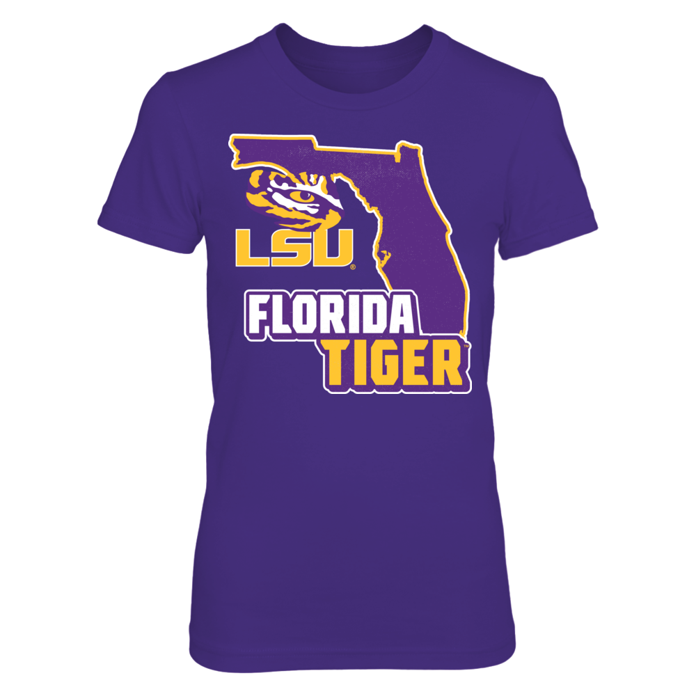 LSU Tigers - Florida Map Mascot Front picture