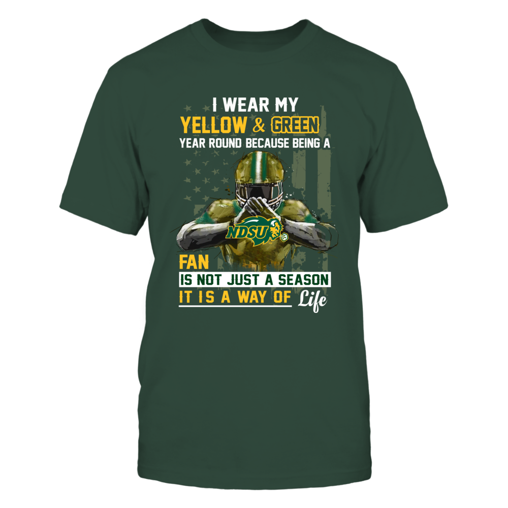North Dakota State Bison - Wear My Color Year Round Front picture