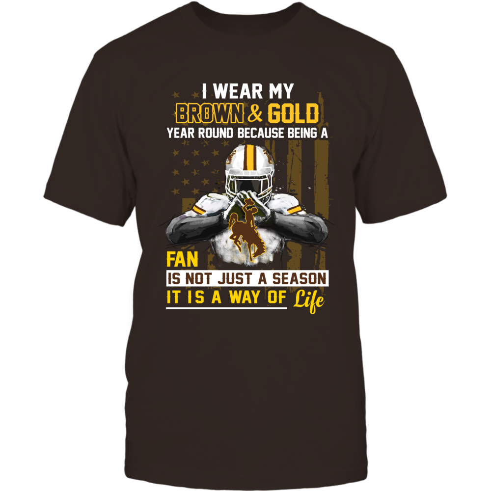 Wyoming Cowboys - Wear My Color Year Round Front picture