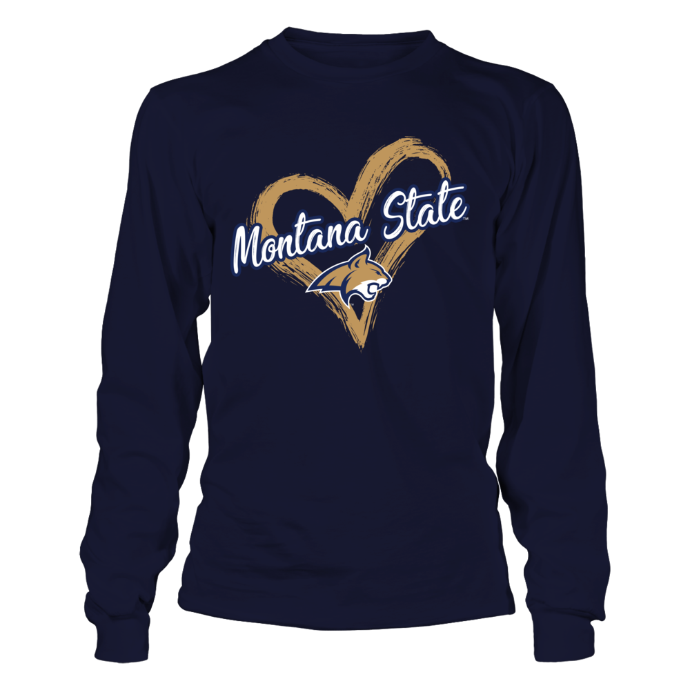 Montana State Bobcats - Drawing Heart Front picture