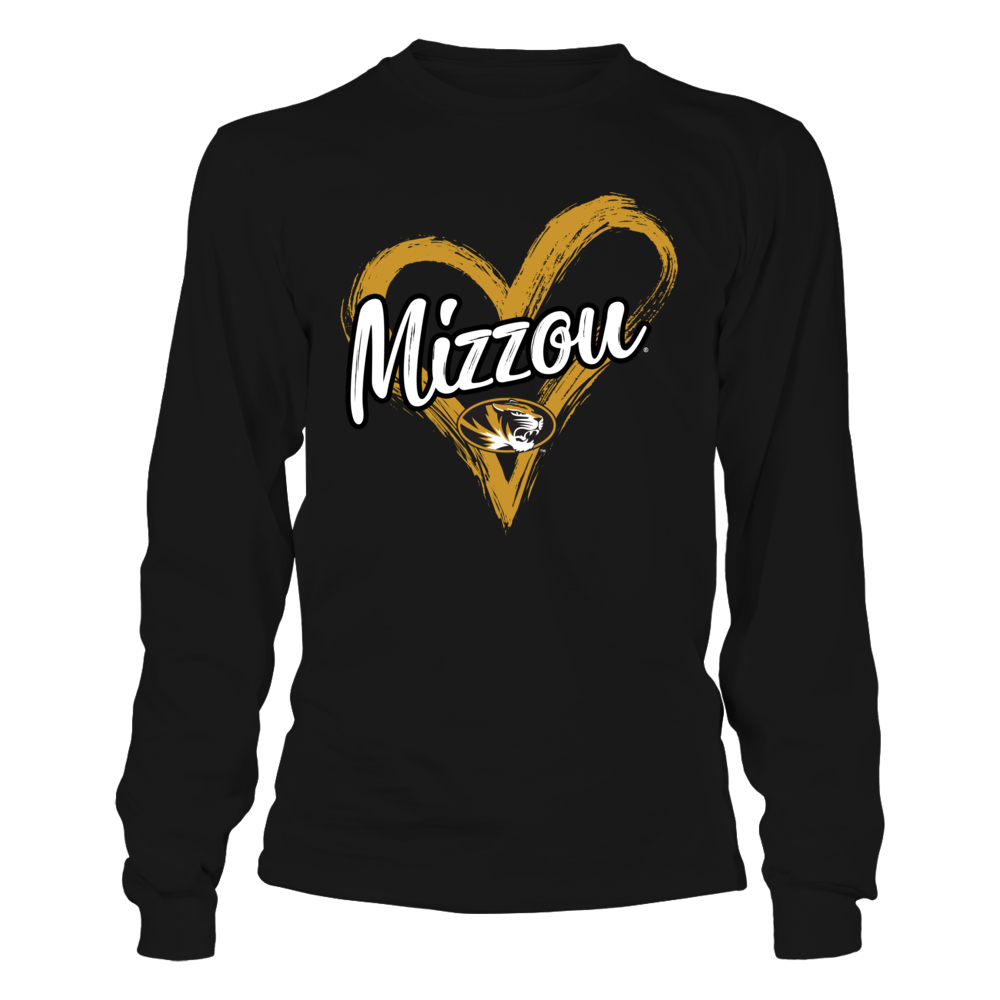 Mizzou Tigers - Drawing Heart Front picture