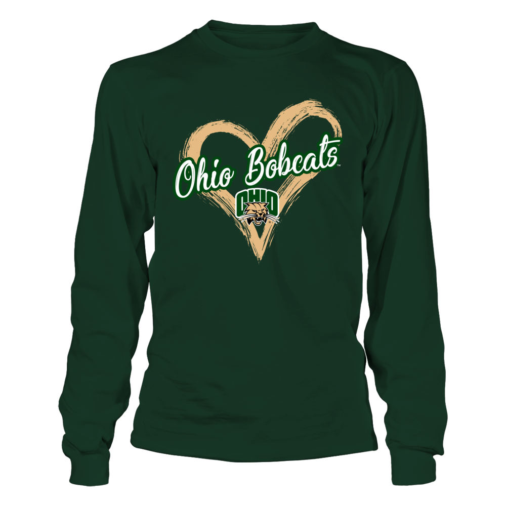 Ohio Bobcats - Drawing Heart Front picture