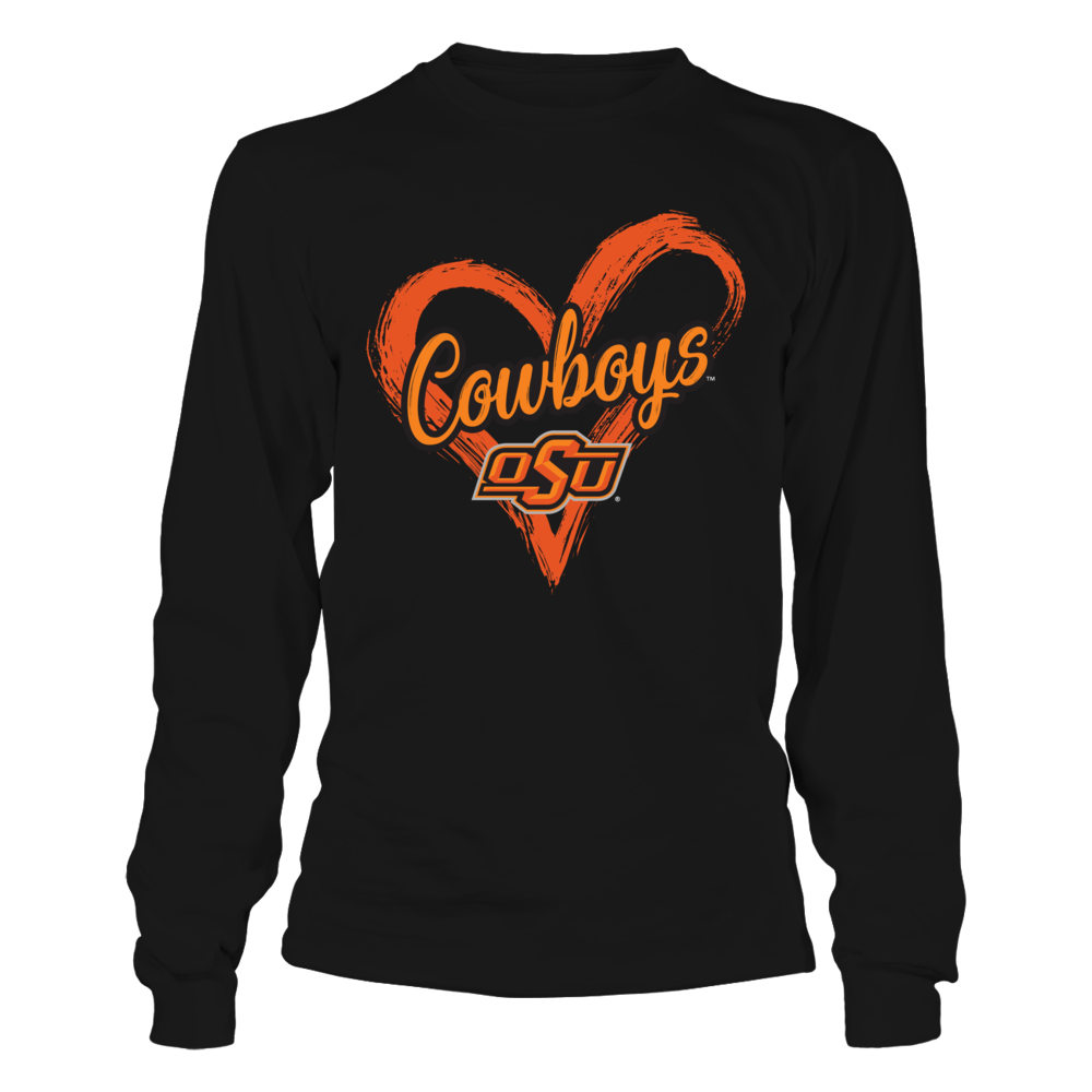 Oklahoma State Cowboys - Drawing Heart Front picture
